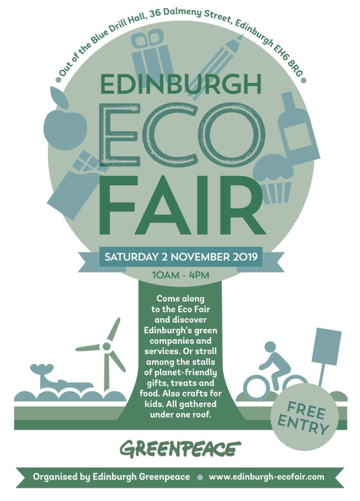 Leith & Leith Walk Greens at the Eco Fair @ Out of the Blue - Drill Hall